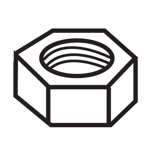 Гайка для резьбового стержня (в коробке 100 шт.)