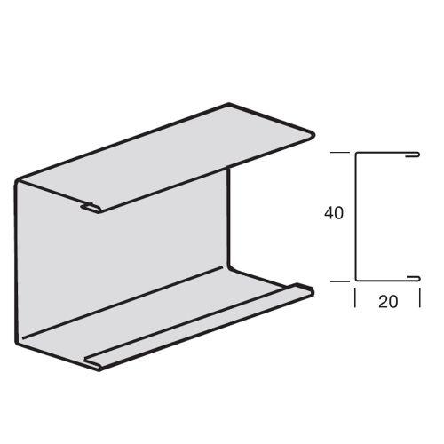 Пристенный молдинг Armstrong Prelude С-канал 20x40 мм, БЕЛЫЙ (в коробке 109,8 пог.м)