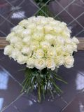 Букет из 51 розы белой Мондиаль