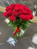 Букет из 25 роз красных эквадорских