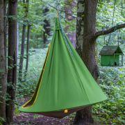 Подвесной гамак-кокон для дачи зеленый