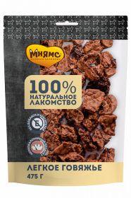 Мнямс лакомство для собак Легкое говяжье, 475 гр