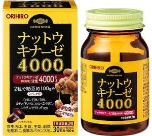 ORIHIRO Наттокиназа 4000 с Омега-3 на 30 дней