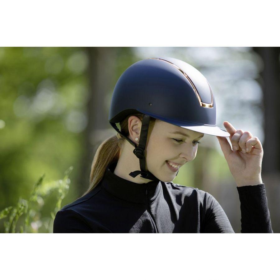 Шлем (жокейка) для верховой езды  -Lady Shield-  HKM Синяя 55-57