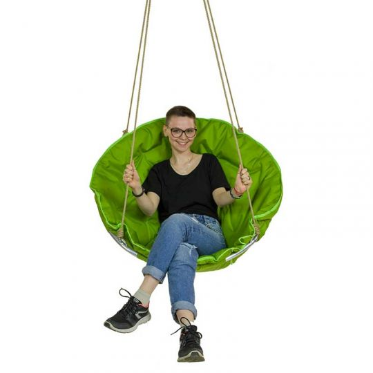Подвесное кресло d-90см, цвет зеленый