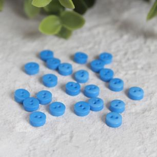 Набор мини пуговиц для творчества, Темно-голубые, 10 шт., 5 мм.