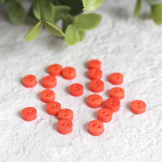 Набор мини пуговиц для творчества, красные, 10 шт., 5 мм.
