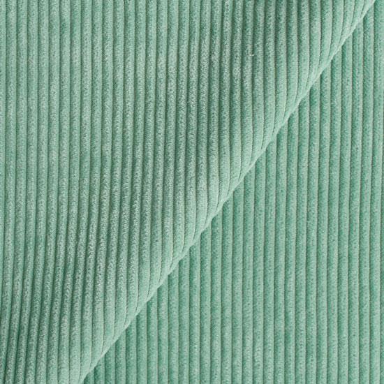 Вельвет в рубчик - морская волна 50*50 см