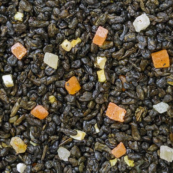 Фрукты тропиков - зеленый китайский чай с натуральными природными ароматизаторами.