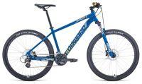 "Велосипед FORWARD APACHE 27,5 X (27,5"" 16 ск. рост. 19"") 2020-2021, Синий матовый/серебристый 1BKW1M37G011"