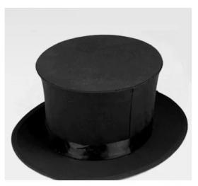 Складной цилиндр -  Folding Top Hat (черный)