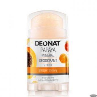 Дезодорант-кристалл ДеоНат 100 гр, С ЭКСТРАКТОМ ПАПАЙИ, стик овальный плоский вывинчивающийся (twist-up)