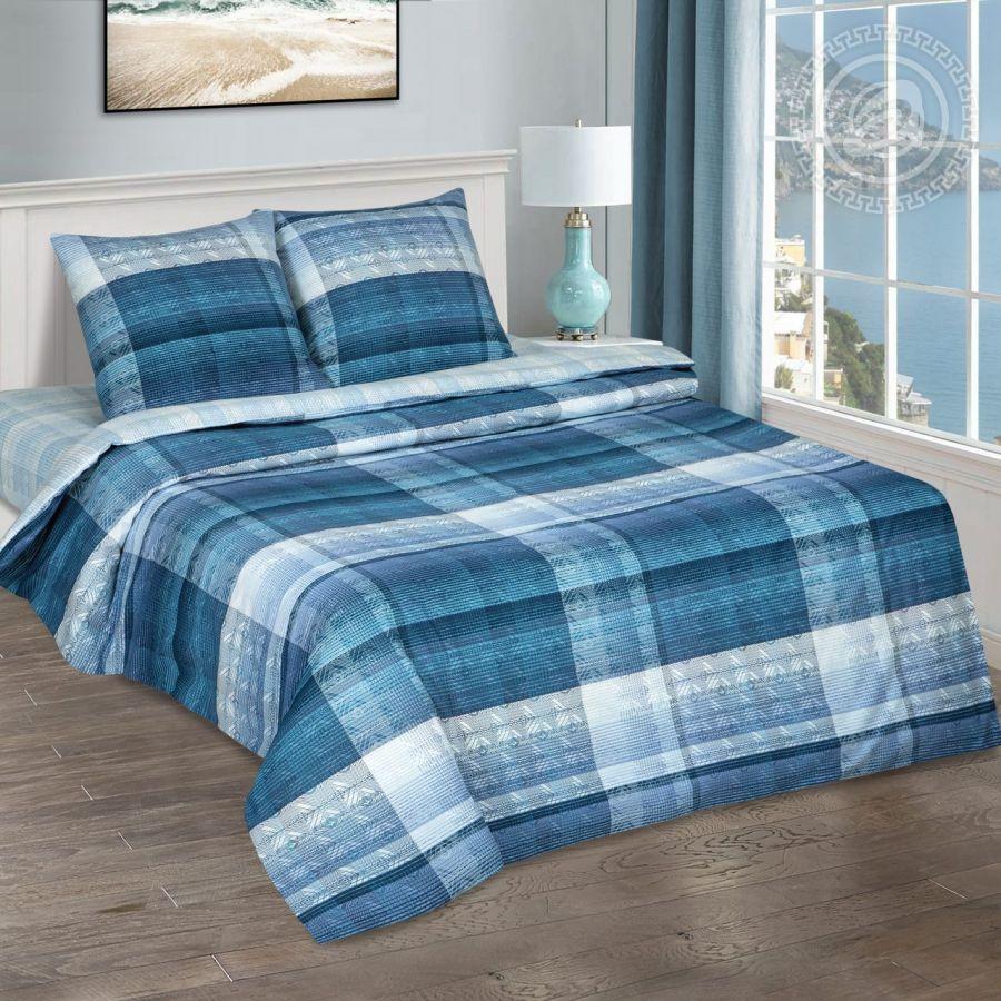 «Енисей» (DE LUXE) постельное белье Поплин 2-х спальный с евро