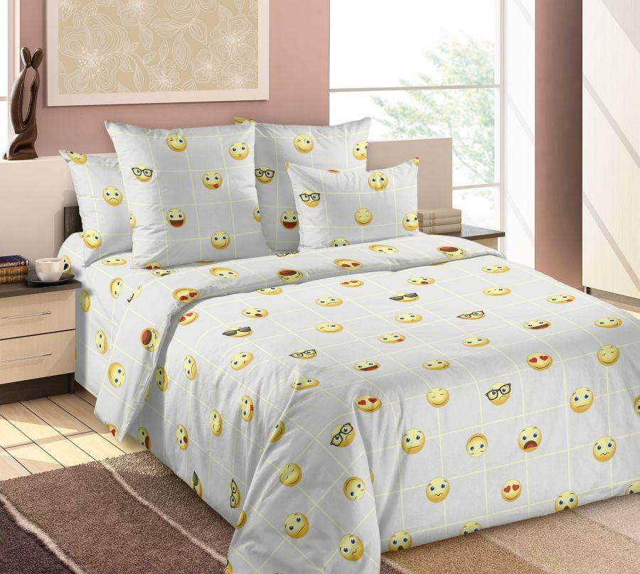 «Смайлы 3» постельное белье Бязь Евро