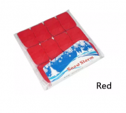 Снежный шторм (квадратики) (SnowStorm) - красный