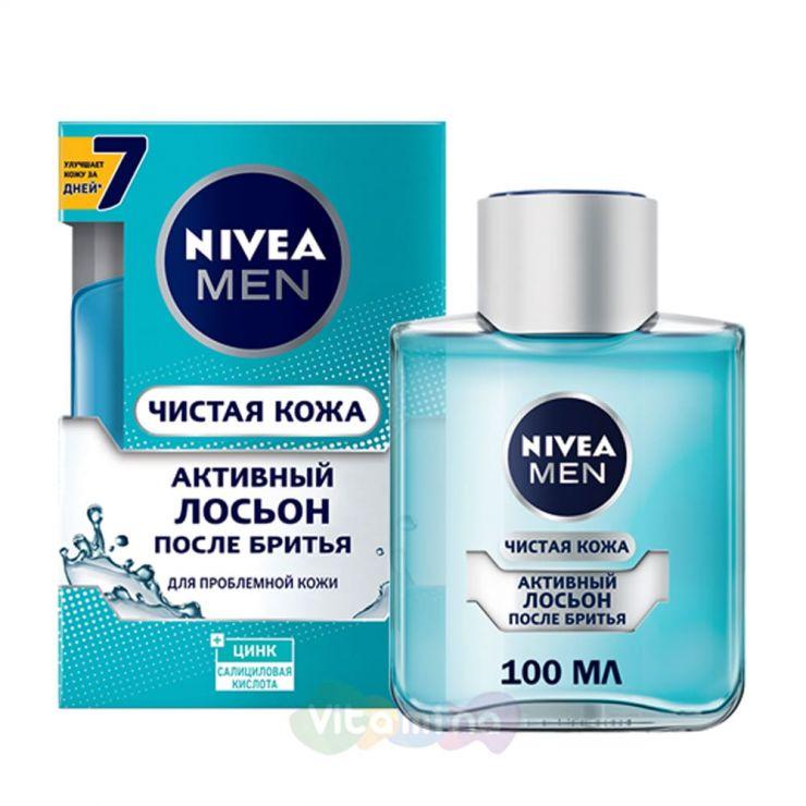 """Nivea Лосьон активный после бритья """"Чистая кожа"""", 100 мл"""