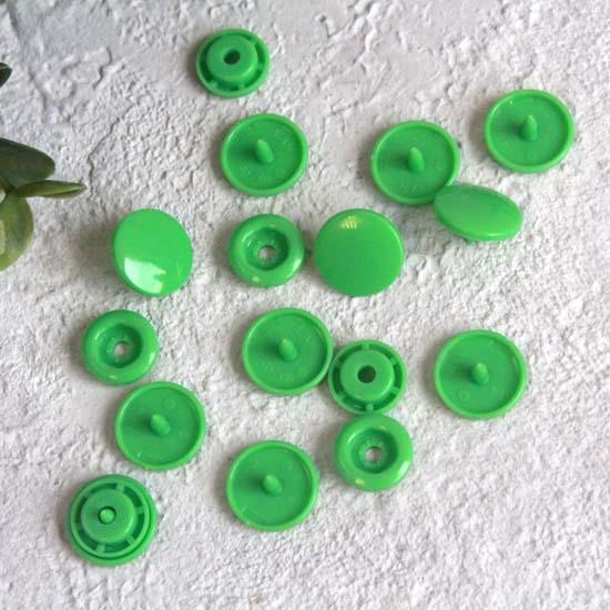 Кнопки пластиковые - Зеленые, 12 мм