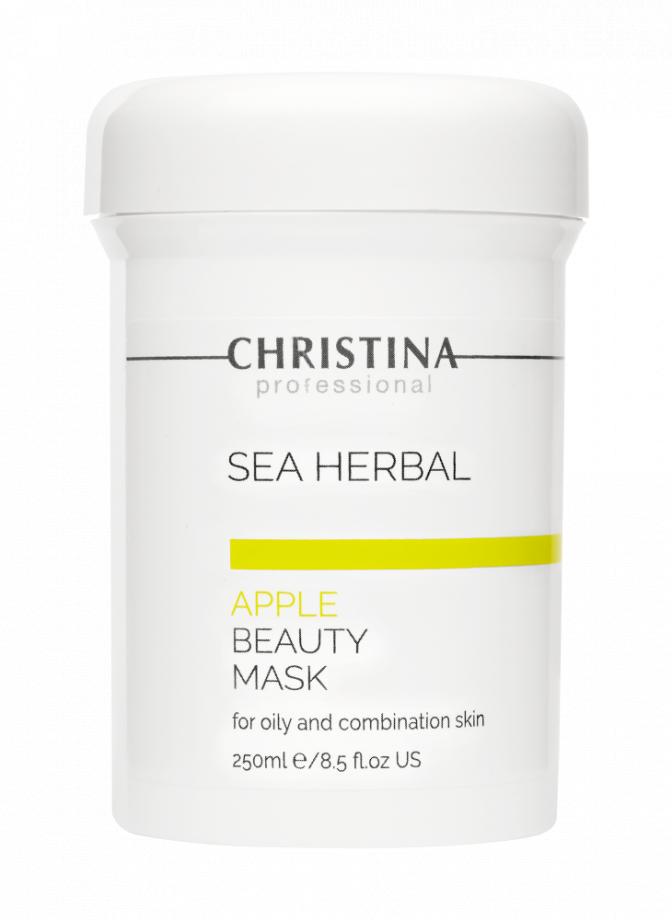 Маска красоты на основе морских трав  для жирной и комбинированной кожи Яблоко Christina (Кристина) 250 мл