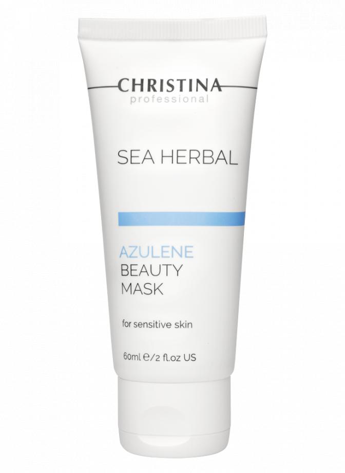 Маска красоты на основе морских трав для чувствительной кожи лица Азулен Christina (Кристина) 60 мл