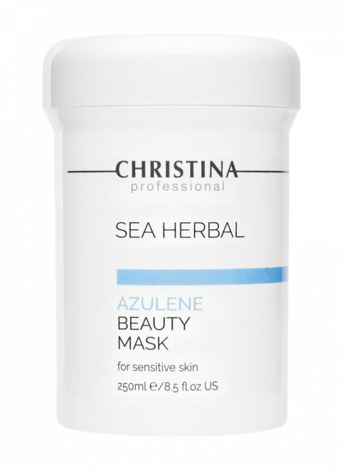 Маска красоты на основе морских трав для чувствительной кожи лица Азулен Christina (Кристина) 250 мл