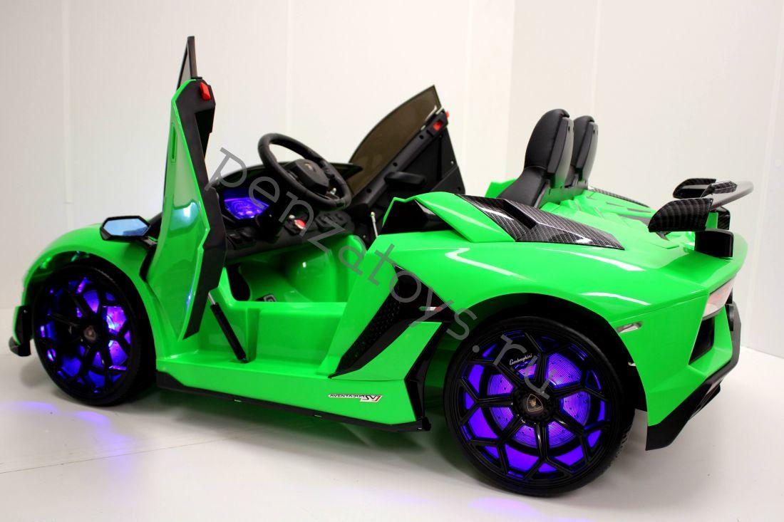 Детский электромобиль Lamborghini Aventador SVJ A111MP двухместный