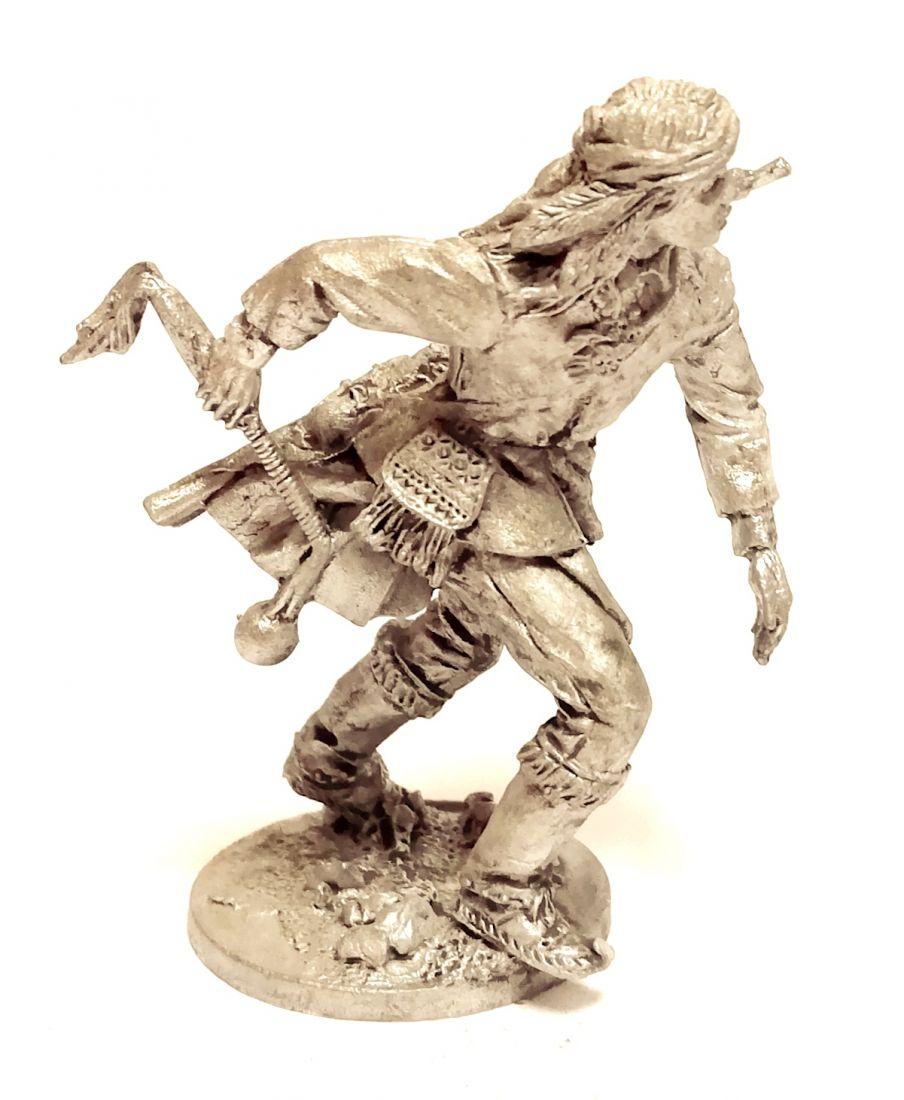 Фигурка Индеец с булавой олово