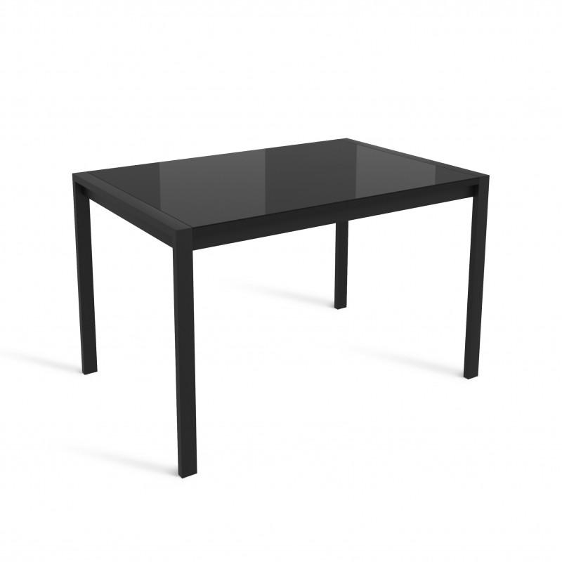 ЛОФТ стол раздвижной со стеклом ЛИСТВИНГ