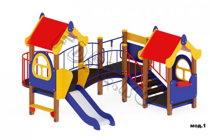 Детский игровой комплекс Теремок Горка 750 3810х3410х2700