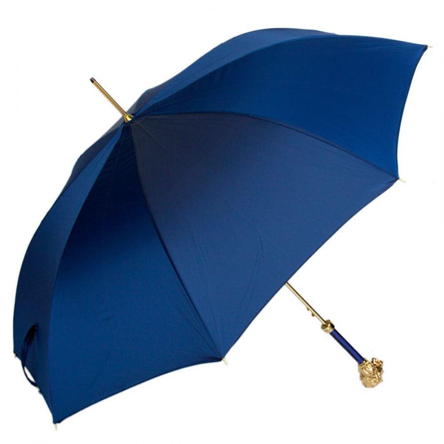 Зонт-трость Pasotti Leone Gold Oxford Blu