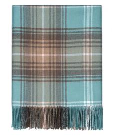 Теплая шаль  100 % стопроцентная шотландская овечья шерсть,  расцветка ЛОККЭРРОН ОПАЛОВЫЙ LOCHCARRON OPAL TARTAN LAMBWOOL STOLE