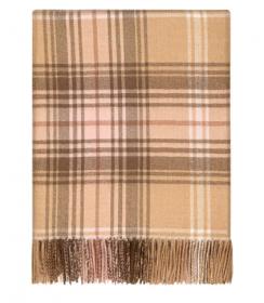 Теплое пончо, 100 % стопроцентная шотландская овечья шерсть, расцветка ЛОККЭРРОН БУТОН LOCHCARRON BLOSSOM TARTAN LAMBSWOOL SERAPE