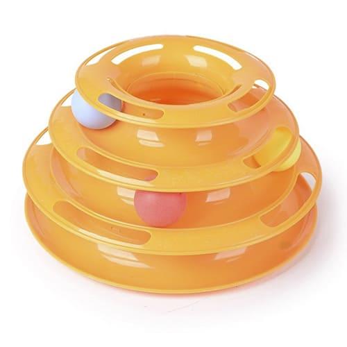 Игрушка-трек для кошек Tower Of Tracks, 3 яруса - цвет оранжевый