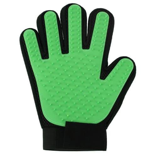 Перчатка для вычёсывания шерсти True Touch, цвет - зелёный.