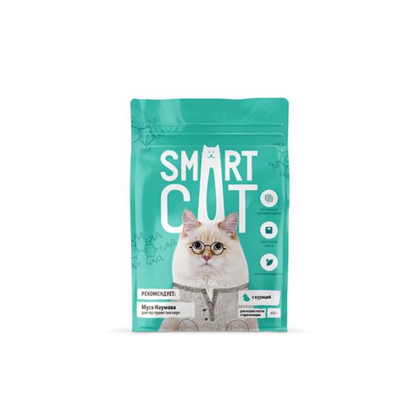 Сухой корм для стерилизованных кошек Smart Cat с курицей 5 кг