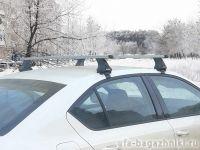 Багажник на крышу Skoda Octavia A8, Атлант, прямоугольные дуги, опора Е