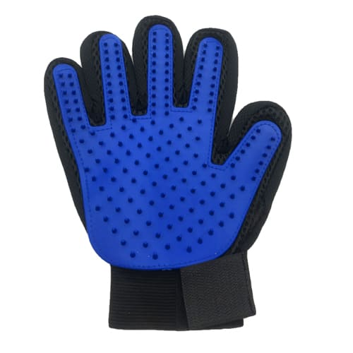 Перчатка для вычёсывания шерсти True Touch, цвет - синий.