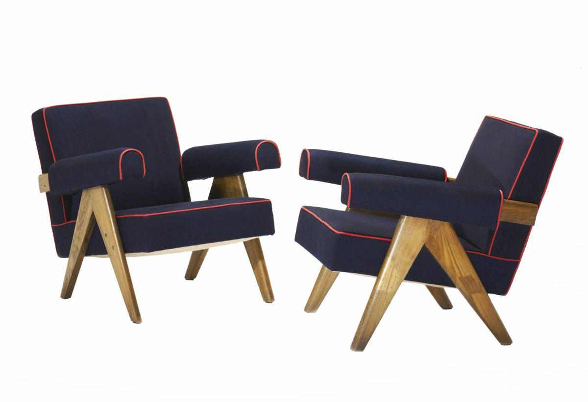 Кресло Pierre Jeanneret PJ-03 (с окантовкой)