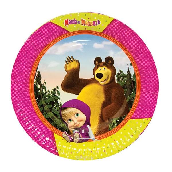 Тарелки большие Маша и Медведь