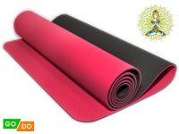 Коврик для йоги и фитнеса. Цвет Красно-черный, артикул 00071