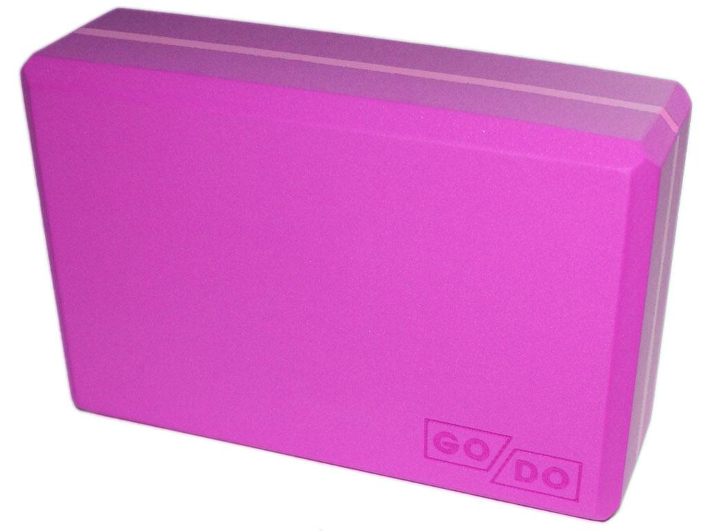 Кирпичик (блок) для йоги утяжелённый. Цвет розовый, артикул 00327