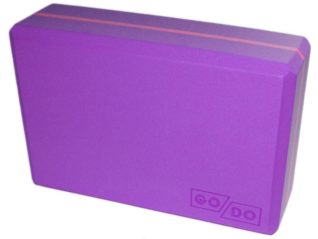 Кирпичик (блок) для йоги утяжелённый. Цвет фиолетовый, артикул 00328