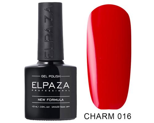 ELPAZA ГЕЛЬ-ЛАК  Charm 016   Импульс (Красный) 10 мл