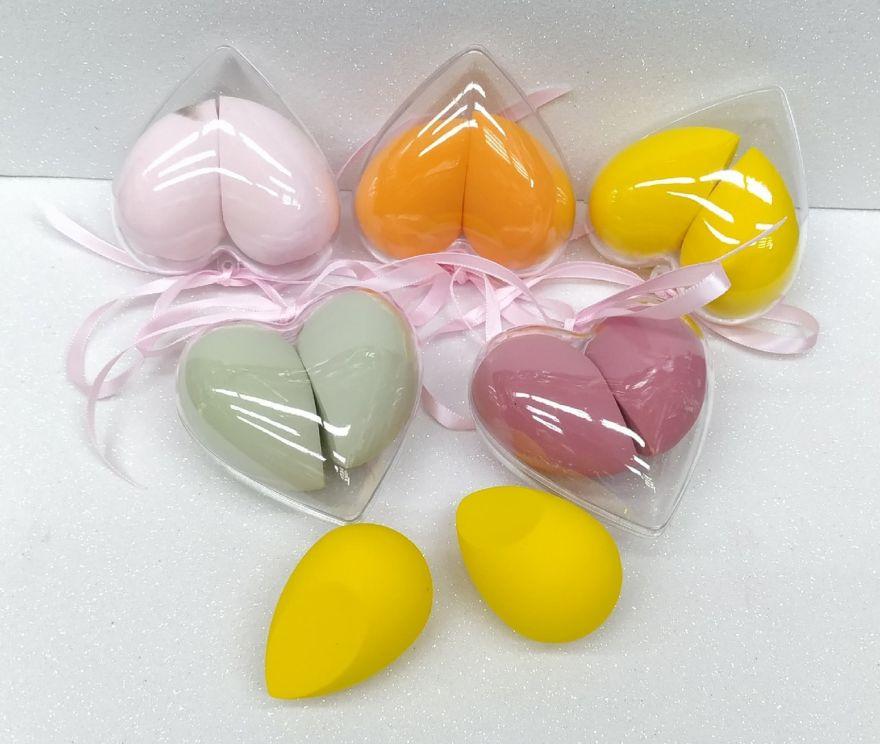 Спонж для умывания сердечко 1шт (цвета в ассортименте) (85860)