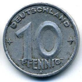 ГДР 10 пфеннигов 1948 A
