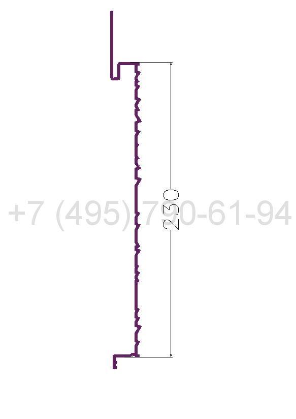 RD.S 1 Рейка рифленая алюминиевая (6,0) RAL