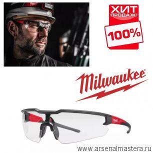 Очки защитные простые прозрачные MILWAUKEE 4932471881. Новинка 2020 года! ХИТ !