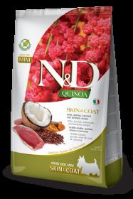 N&D Dog Quinoa Skin&coat Duck Adult Mini (Утка, киноа, кокос и куркума для мелких пород. Здоровье кожи и шерсти)