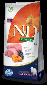 N&D Lamb, Pumpkin & Blueberry Adult giant&maxi (ягненок, тыква и черника для взрослых собак очень крупных пород)