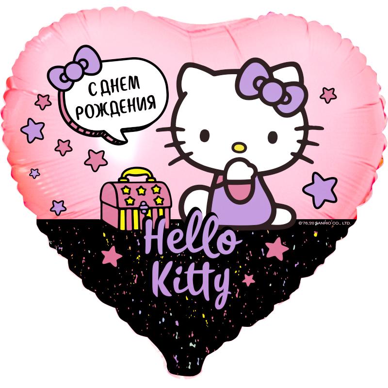"Шар СДР Hello Kitty Сердце (18""/45 см)"