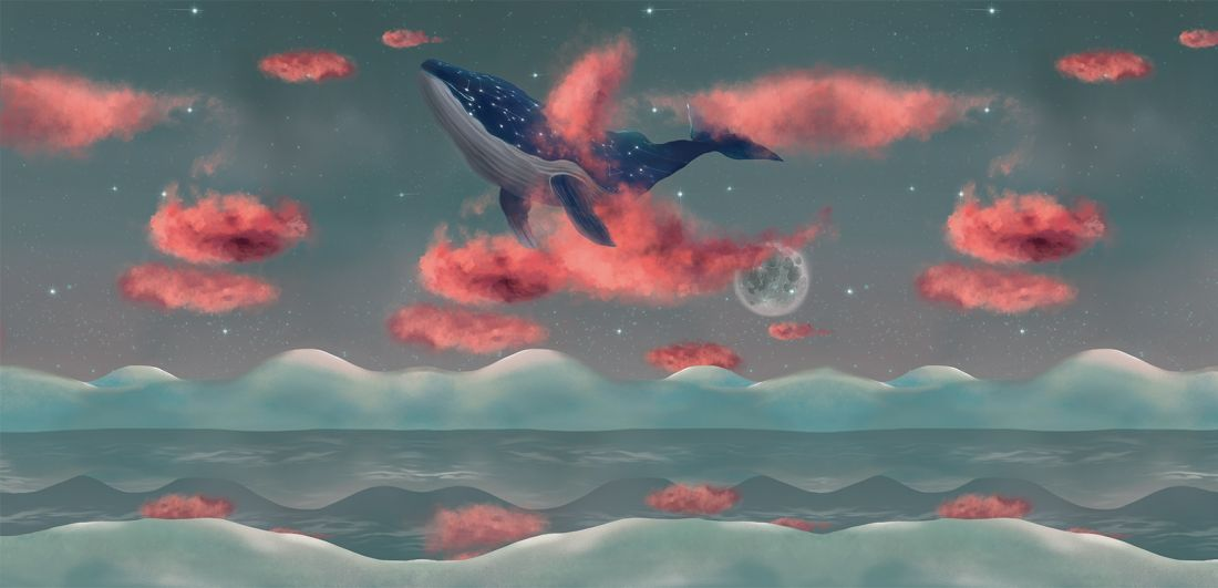 Whale Cloud Pink